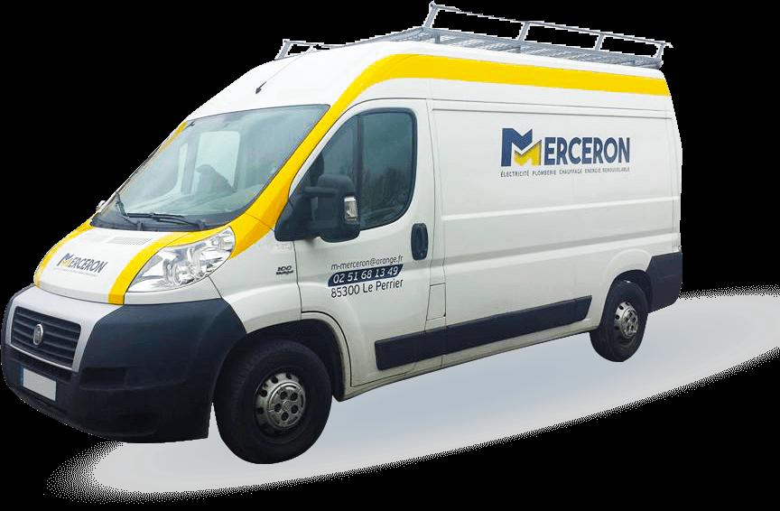 Camion de Merceron Michel, plombier à Challans et Le perrier